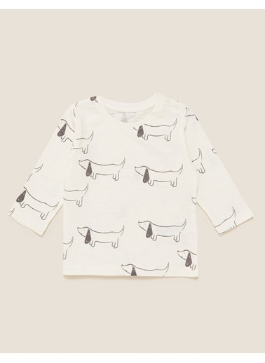 Marks & Spencer 3'lü Baskılı T-Shirt Seti Gri